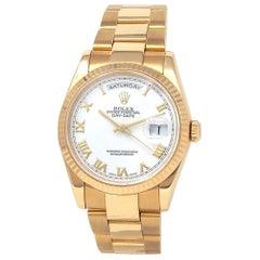 Rolex Day-Date 'P Serial' 18 Karat Yellow Gold Automatic Men's Watch 118238