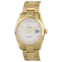 Rolex Day-Date President 118208 18 Karat Yellow Gold Men's Watch