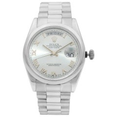 Rolex Day-Date President 18 Karat White Gold Blue Dial Men's Watch 118209