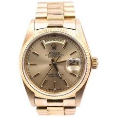 Rolex Day-Date President 18 Karat Yellow Gold Watch Ref. 18038