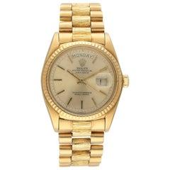 Rolex Day Date President 18078 Bark Finish Men's Watch
