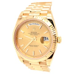 Rolex Day-Date President 18k Yellow Gold Champagne Men's Watch 228238