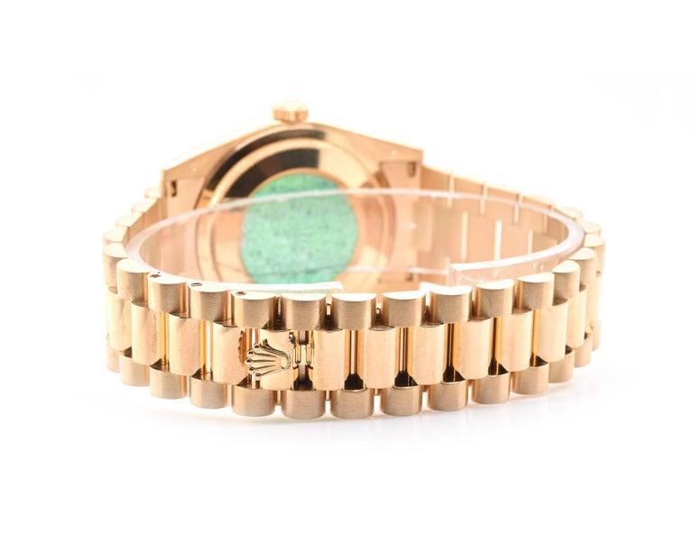 Men's Rolex Day-Date President 18 Karat Yellow Gold Watch Ref. 118238 For Sale