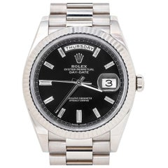 Rolex Day-Date President 228239 Factory Black Diamond Dial Men's Watch