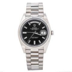 Rolex Day-Date President 228239 Factory Black Diamond Dial Men's Watch