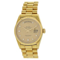 Rolex Day-Date President Diamond Dial 18038 Men's Watch