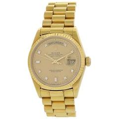 Rolex Day-Date President Diamond Dial 18038 Men's Watch