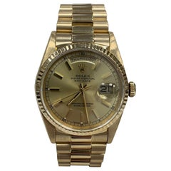 Rolex Day Date President Double Quickset 18238 Champagne Dial 18 Karat Gold