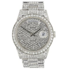 Rolex Day-Date Presidential 18239 18 Karat White Gold Diamond Men's Watch