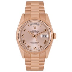 Rolex Day-Date Rose Gold Rose Dial 118235