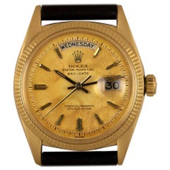 Rolex Day-Date Vintage Gents 18 Karat Yellow Gold Champagne Dial 6611B