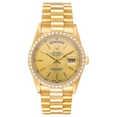 Rolex Day-Date Yellow Gold Mens Automatic President Bracelet Watch 18238