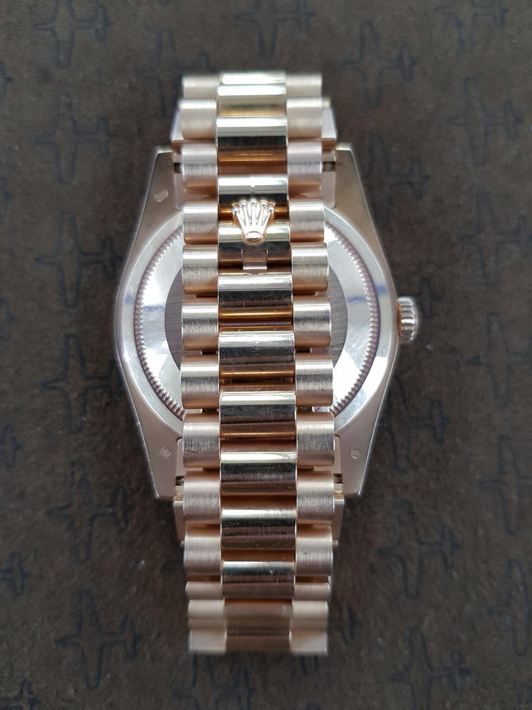Rolex Day Date, Yellow Gold, Model Number 18238, Registered, 1988 For Sale 1