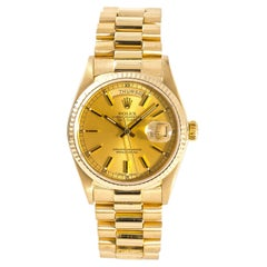 Rolex Day-Date 18038, Champagne Dial Certified Authentic