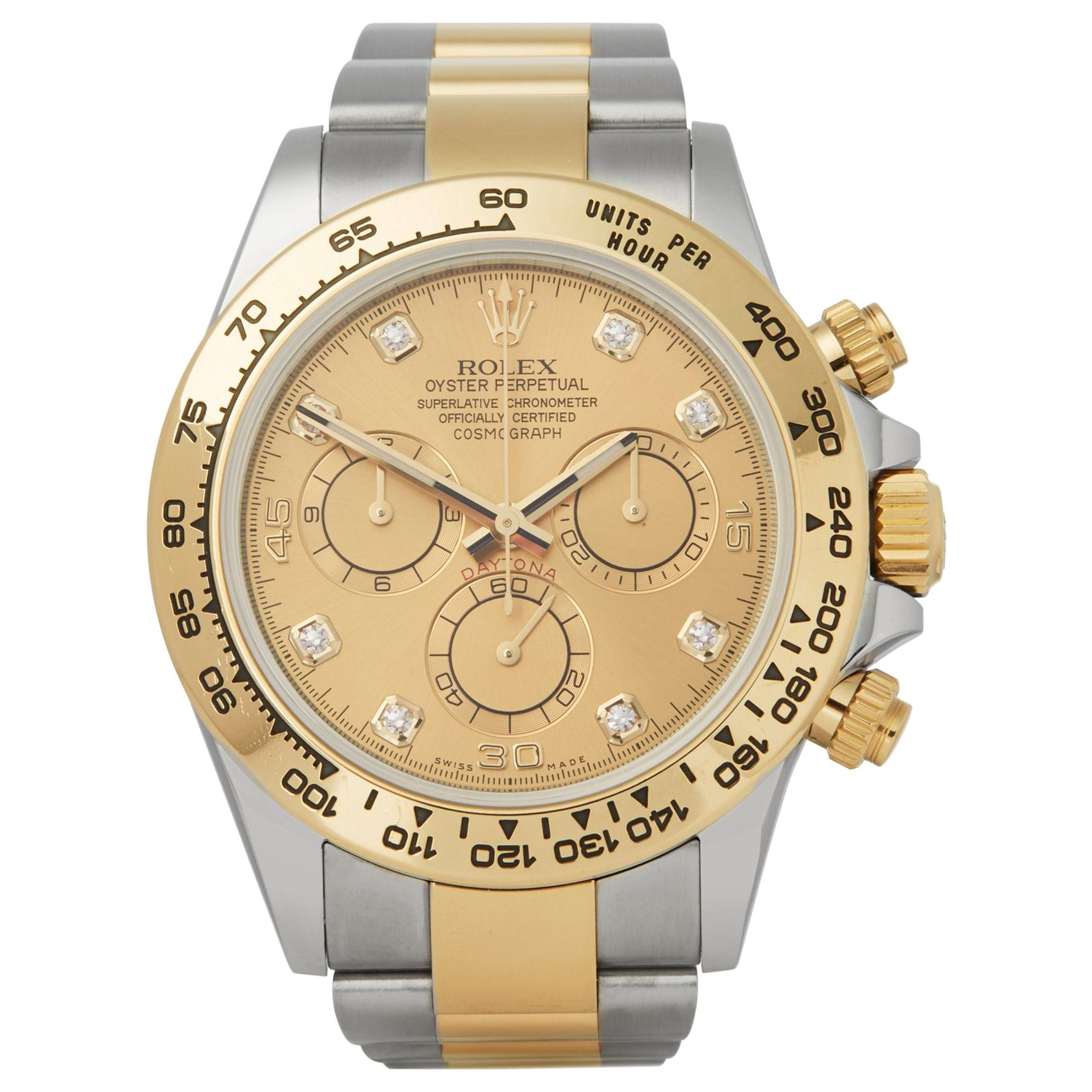 Rolex Daytona 0 116503 Men's Stainless Steel and Yellow Gold Watch