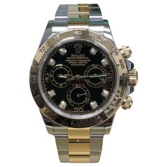Rolex Daytona 116503 Black Diamond Dial 18 Karat Gold and Stainless Steel, 2017