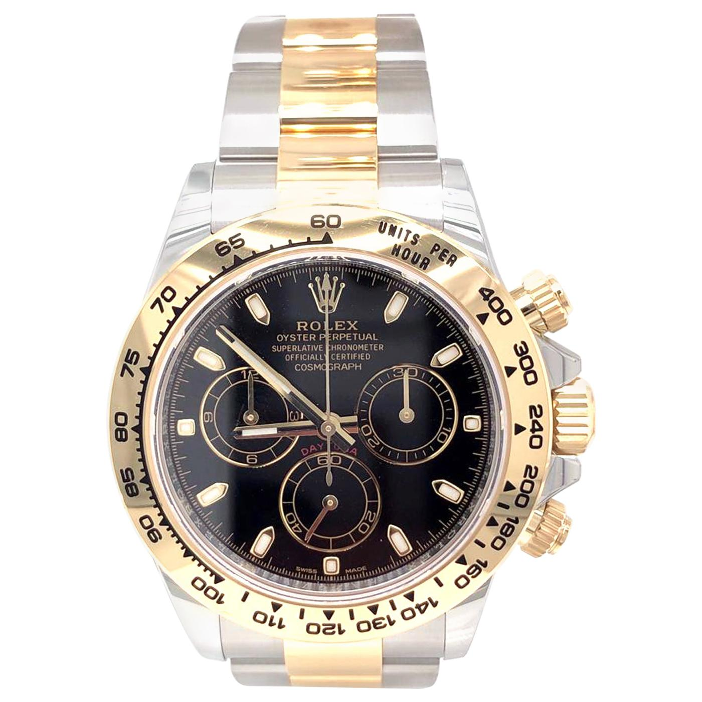 Rolex Daytona 116503 Two Tone Steel and Yellow Gold Black Index Dial Watch