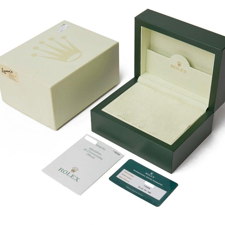 Rolex Daytona 116509 Men's White Gold Chronograph Watch 4