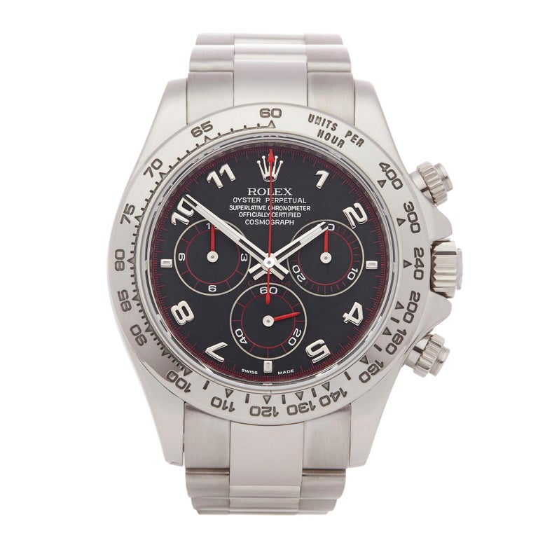 Rolex Daytona 116509 Men's White Gold Chronograph Watch