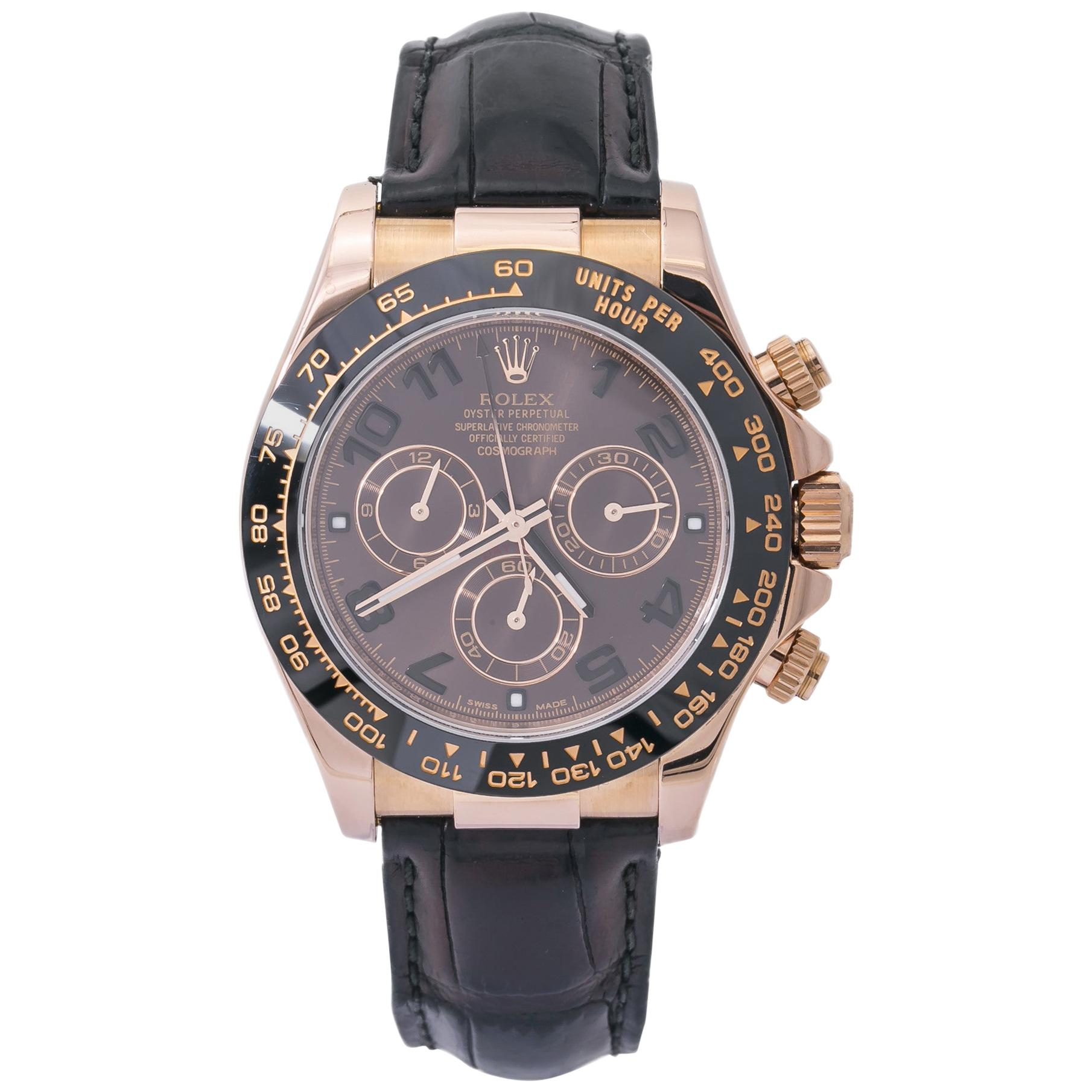 Rolex Daytona 116515, Brown Dial, Certified and Warranty