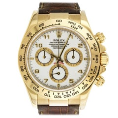 Rolex Daytona 116518, White Dial, Certified and Warranty