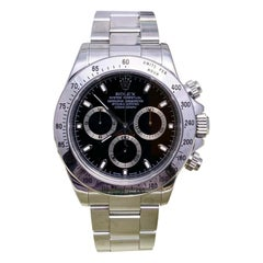 Rolex Daytona 116520 Black Dial Stainless Steel Box Papers Unpolished, 2004
