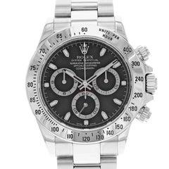 Rolex Daytona 116520 Black Dial Sticks 2006 Stainless Steel Automatic Watch