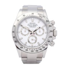 Rolex Daytona 116520 Men Stainless Steel APH' Dial & 'Engraved Rehaut' Watch