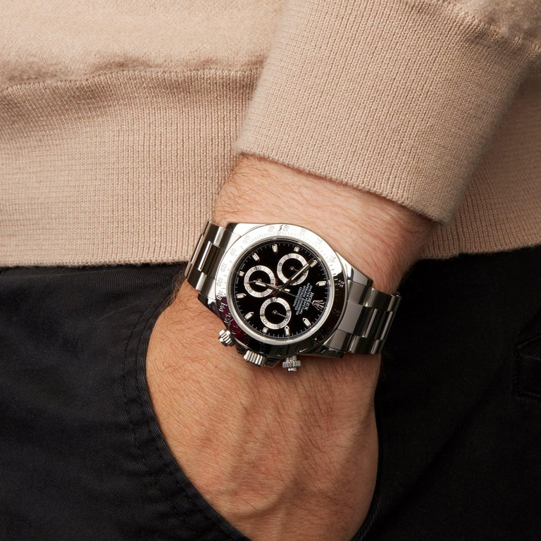 Rolex Daytona 116520 Men's Stainless Steel Chronograph Watch For Sale 4