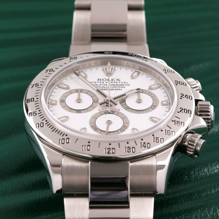 Rolex Daytona 116520 Men's Stainless Steel Cosmograph APH Dial Watch For Sale 3