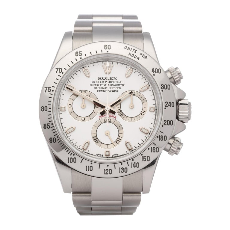 Rolex Daytona 116520 Men's Stainless Steel Cosmograph APH Dial Watch For Sale