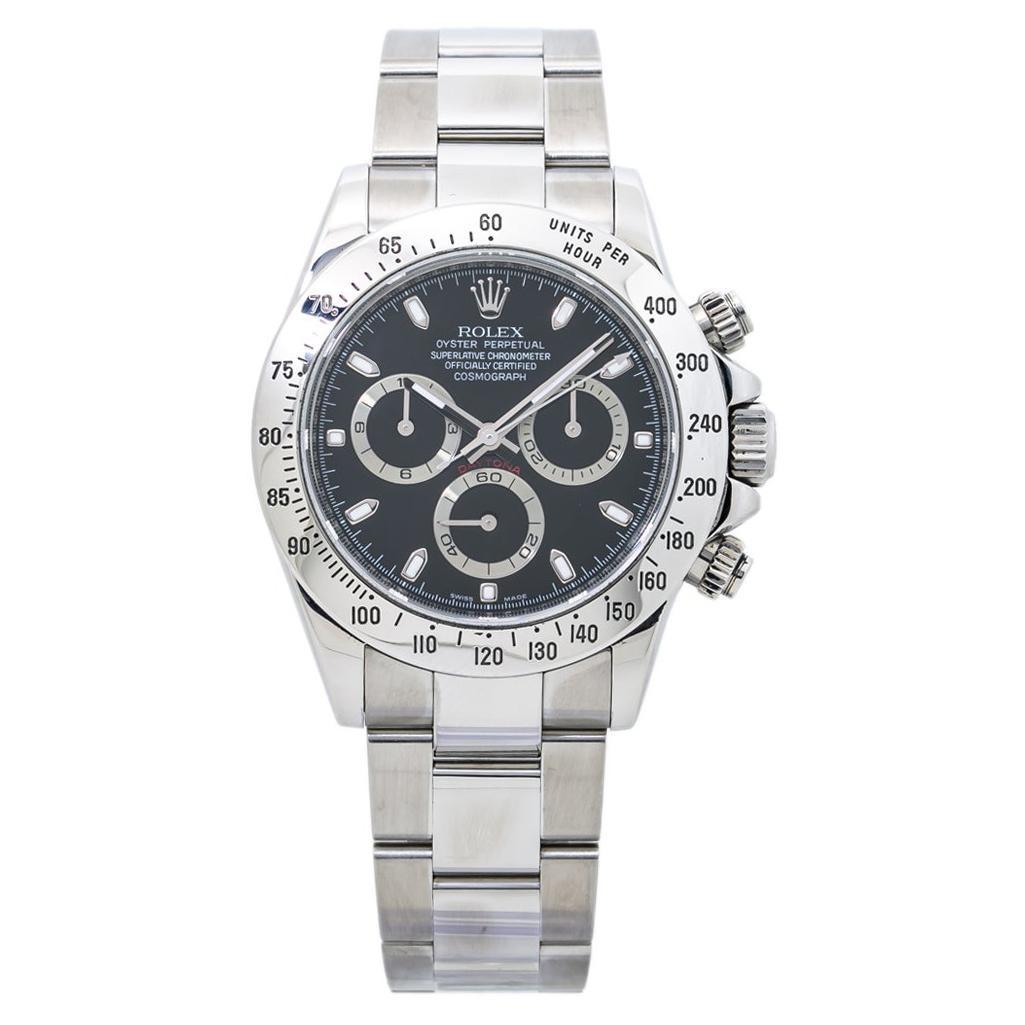 Rolex Daytona 116520 Rehaut V 2009 Fat Buckle Cosmograph Black Dial Watch