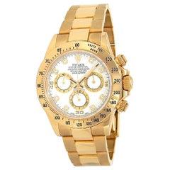 Rolex Daytona 18 Karat Yellow Gold Diamond Dial Automatic Men's Watch 116528