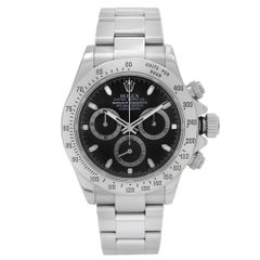Rolex Daytona Chronograph Steel Black Dial Automatic Mens Watch 116520