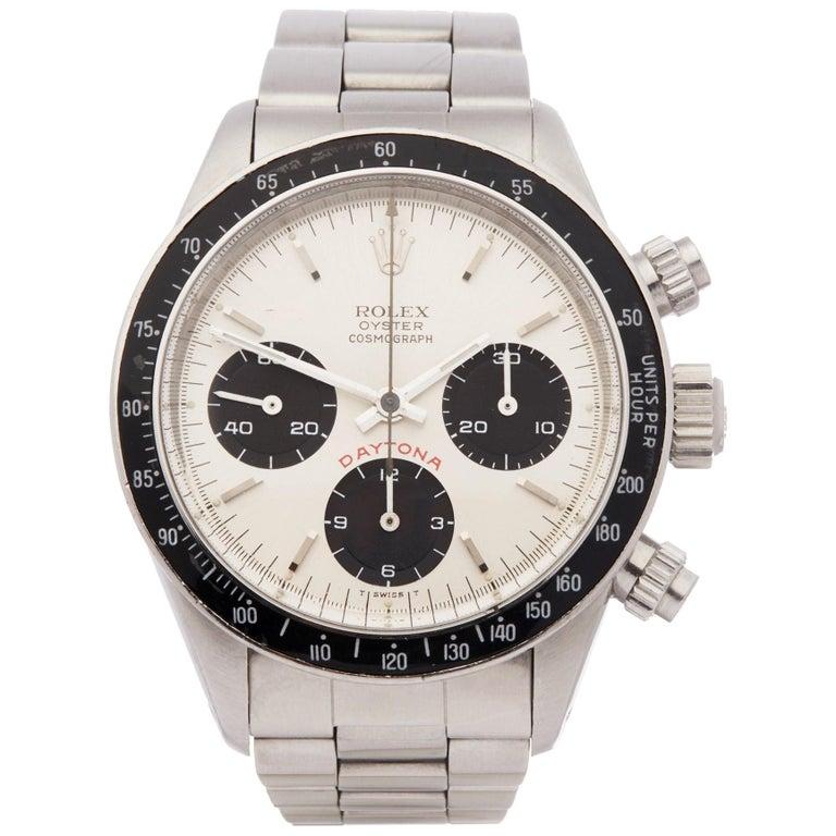 Rolex Daytona 6263 Men's Stainless Steel Watch For Sale