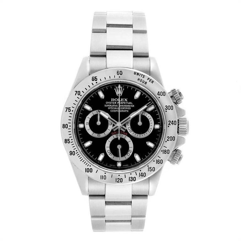 Rolex Daytona Black Dial Chronograph Stainless Steel Men s