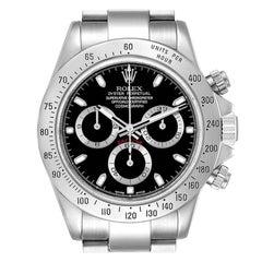 Rolex Daytona Black Dial Chronograph Stainless Steel Mens Watch 116520