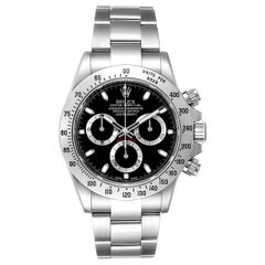 Rolex Daytona Black Dial Chronograph Stainless Steel Men's Watch 116520