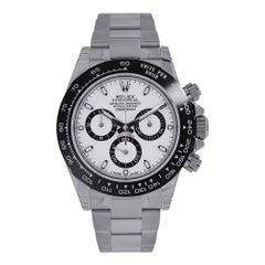 Rolex Daytona Ceramic Bezel Stainless Steel White Dial Watch 116500LN