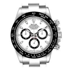 Rolex Daytona Ceramic Bezel White Dial Chronograph Men's Watch 116500