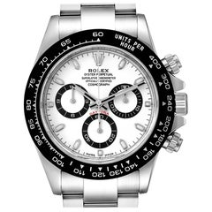 Rolex Daytona Ceramic Bezel White Dial Men's Watch 116500 Box Card
