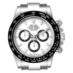 Rolex Daytona Ceramic Bezel White Dial Steel Mens Watch 116500 Box Card
