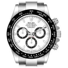 Rolex Daytona Ceramic Bezel White Dial Steel Mens Watch 116500 Unworn