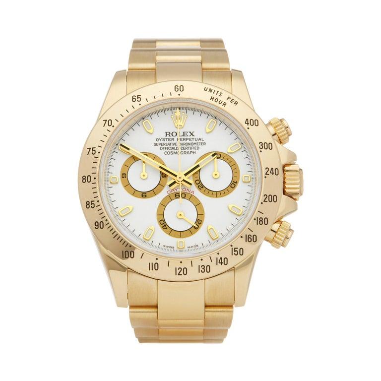 Rolex Daytona Chronograph NOS 18 Karat Yellow Gold 116528 For Sale
