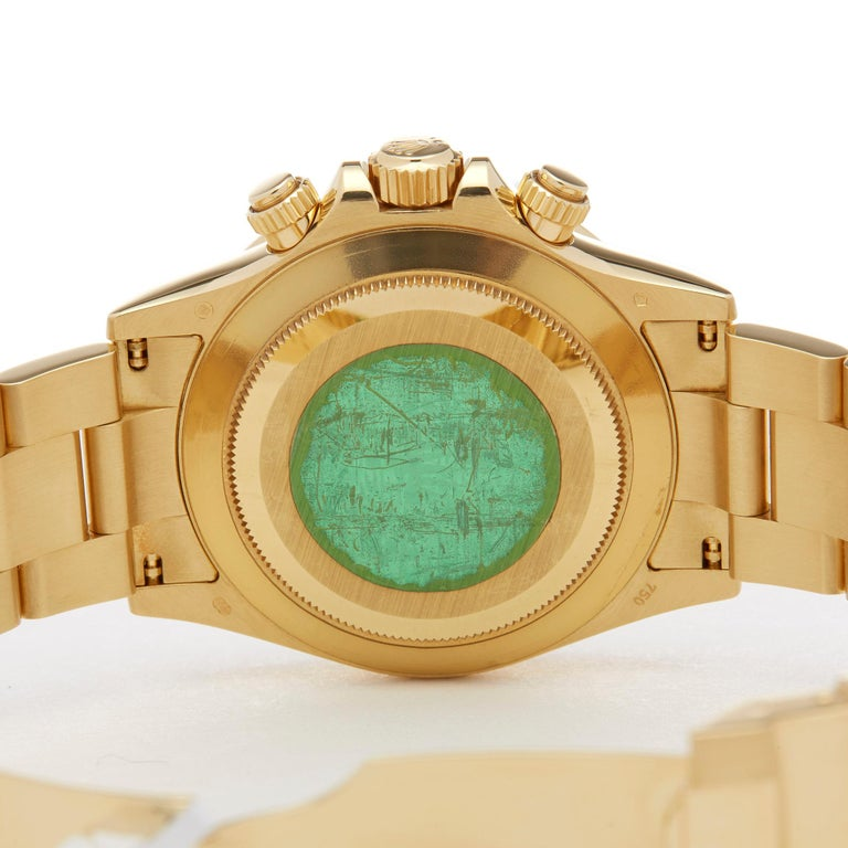 Rolex Daytona Chronograph NOS 18 Karat Yellow Gold 116528 For Sale 2