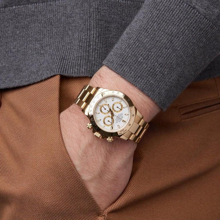 Rolex Daytona Chronograph NOS 18 Karat Yellow Gold 116528 For Sale 4