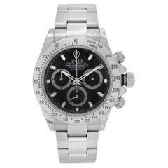 Rolex Daytona Cosmograph Steel Black Index Dial Automatic Mens Watch 116520