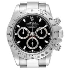 Rolex Daytona Cosmograph Black Dial Chronograph Steel Men's Watch 116520