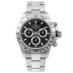 Rolex Daytona Cosmograph Black Dial Steel Automatic Men's Watch 116520BKSO