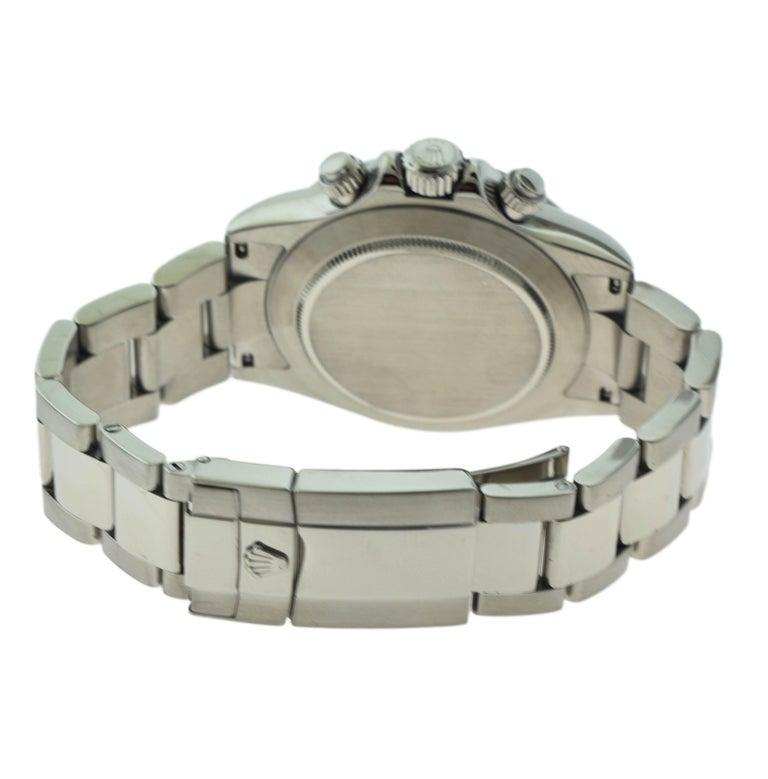 Women's or Men's Rolex Daytona Cosmograph Ref. 116520 Steel Blue Dial Watch 'R-99' For Sale